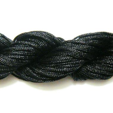 Snur matasos pentru bratari shamballa, negru, grosime 1mm 1 scul 26 m
