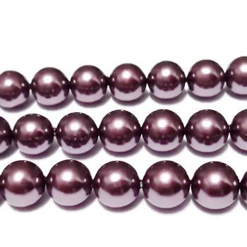 Perle stil Mallorca, mov, 10mm 1 buc