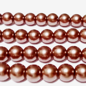 Perle sticla maro deshis, 10 mm 10 buc