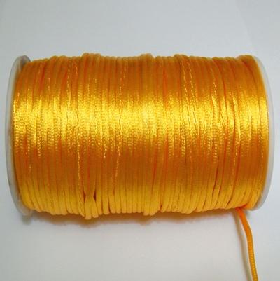 Snur saten portocaliu deschis, 2mm 1 m