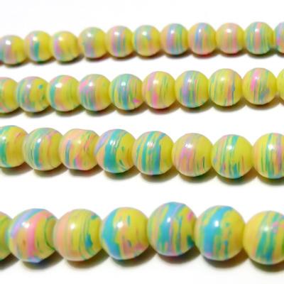 Margele sticla multicolore 8mm 10 buc