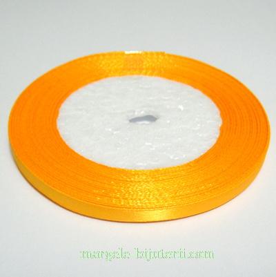 Saten portocaliu 7mm 1 rola 25 m