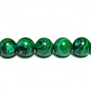 Malachit de sinteza, sferic, verde, 8mm 1 buc