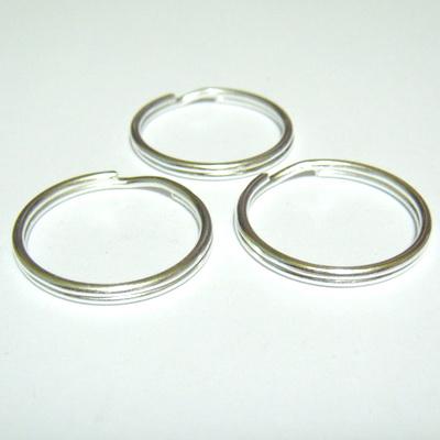 Zale duble argintii, 25mm, grosime 2.5mm 1 buc