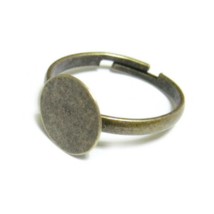 Baza inel reglabila, bronz, platou 10mm, diametrul 18mm 1 buc