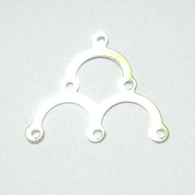 Accesoriii argintii, multisir, 3+1 orificii, 13x18mm 10 buc