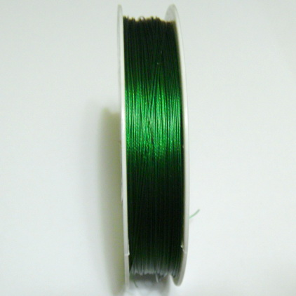 Sarma siliconata verde, 0.38mm 5 m