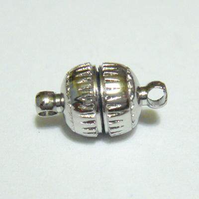 Inchizatoare magnetica argintiu inchis, 8mm 1 buc
