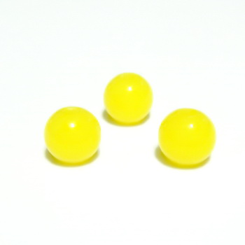 Margele plastic galben, 6mm 10 buc