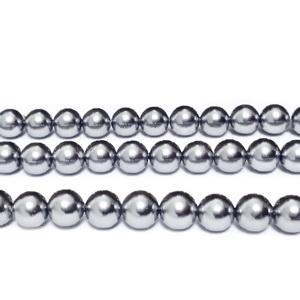 Perle stil Mallorca, gri, 6.3mm 1 buc
