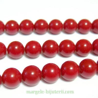 Perle stil Mallorca, rosii, 6.2 mm 1 buc