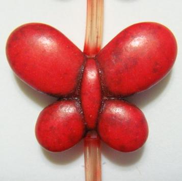 Fluturasi turcoaz rosu, 15x20x6mm 1 buc