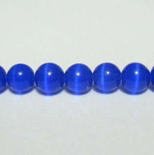 Ochi de pisica albastru-cobalt, 4 mm 1 buc