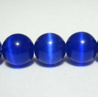 Ochi de pisica albastru-cobalt, 10 mm 1 buc