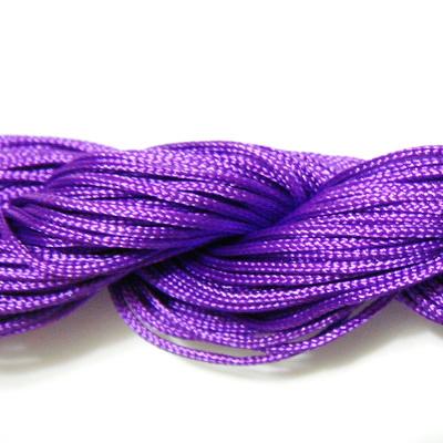Snur matasos pentru bratari shamballa, violet, grosime 1mm 1 scul 26 m