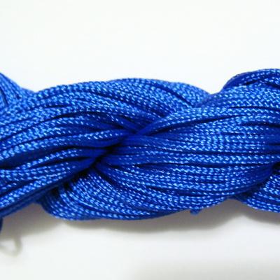Snur matasos pentru bratari shamballa, albastru-cobalt, 1mm-scul cca 26m 1 buc