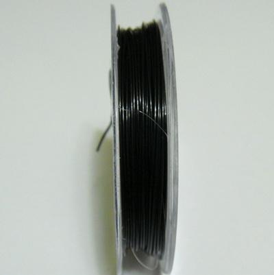 Sarma siliconata neagra 0.38 mm 1 rola 9 m