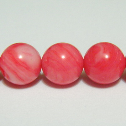 Perle sidef roz, sferic, 8.3mm 1 buc