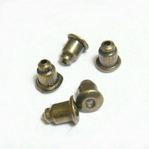Dopuri metalice, bronz, pt. cercei, 5x3mm 10 buc