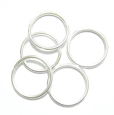 Zale simple argintii 14mm, grosime 1.2mm 100 buc