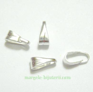 Accesorii pandantiv, argintii, 7X3mm 10 buc