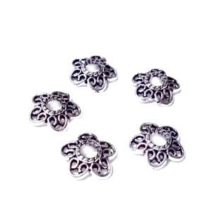 Capacel argint tibetan, cu 5 bucle 16x5mm 1 buc
