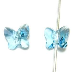 Swarovski Elements, Butterfly 5754-Aquamarine, 6 mm 1 buc