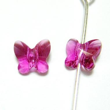 Swarovski Elements, Butterfly 5754-Fuchsia, 6 mm 1 buc