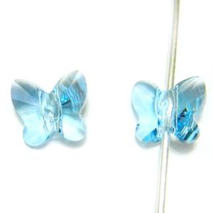 Swarovski Elements, Butterfly 5754-Aquamarine, 8 mm 1 buc