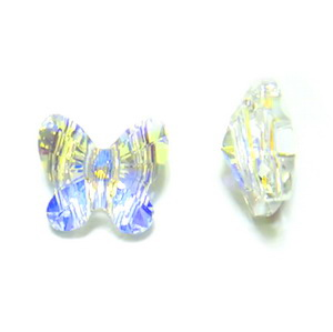 Swarovski Elements, Butterfly 5754-Crystal AB, 8 mm 1 buc