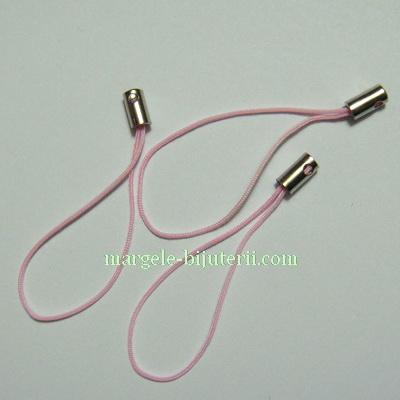 Snururi breloc roz deschis, 5cm 10 buc