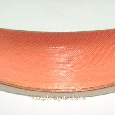 Panglica organza roz-somon, 2 cm 1 rola 50 m