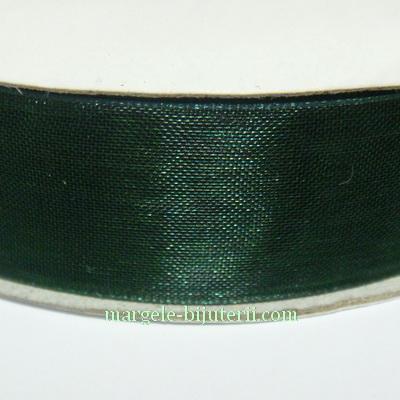Panglica organza verde inchis, 2 cm 1 rola 50 m