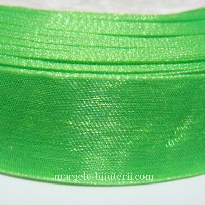 Panglica organza verde deschis, 2 cm 1 rola 50 m