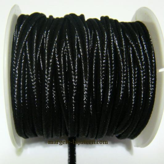 Snur Soutachee negru, latime 2.5mm 1 rola 4 m