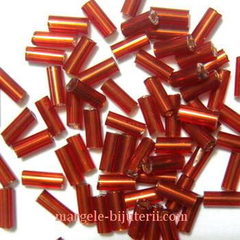 Margele tubulare rosii, 4.5mm 20 g