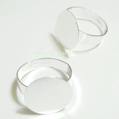 Baza inel argintie 18mm, platou 15 mm 1 buc