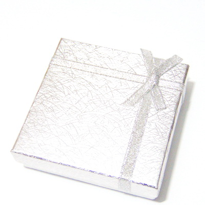 Cutie cadou argintie, 8.5x8.5x2.5 cm 1 buc