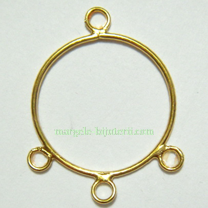 Cadru cercei/pandantiv, placat cu aur, 2.2cm 1 buc
