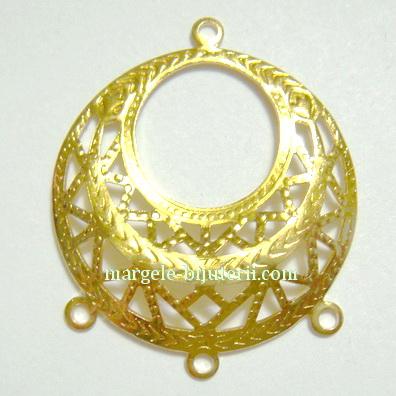 Cadru cercei/pandantiv, placat cu aur, 2.5cm 1 buc
