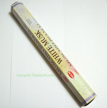 Betisoare parfumate HEM - aroma WHITE MUSK 1 cutie