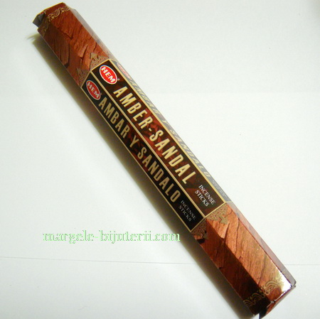 Betisoare parfumate HEM - aroma AMBER-SANDAL 1 cutie