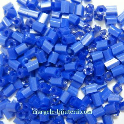 Margele tubulare, albastre, opace, 3mm 20 g