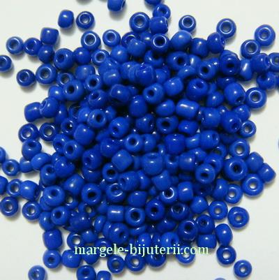 Margele nisip, opace, albastre,  2mm 20 g