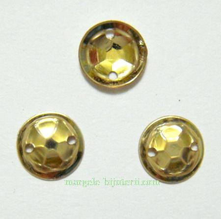 Paiete convexe, aurii, 8mm, 1.1 grame(aproximativ 50 buc) 1 buc
