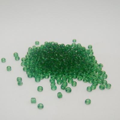 Margele nisip, verzi, transparente, 2mm 20 g