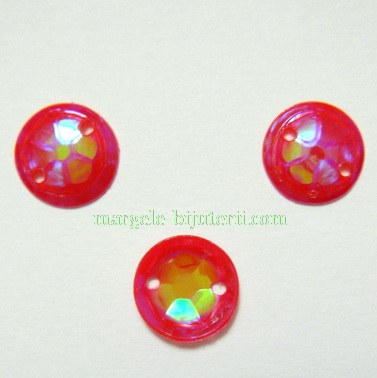 Paiete convexe, roz-fucsia, 8mm, 1.1 grame(aproximativ 50 buc) 1 buc