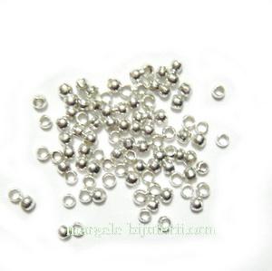 Crimpuri argintii, 1.5mm-1 gr( cca 150buc) 1 g