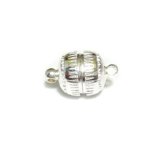 Inchizatoare magnetica argintie, 13x8mm 1 buc