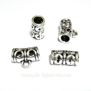 Agatatoare pandantiv, argint tibetan, 11x6mm, orificiu 2.5mm 1 buc